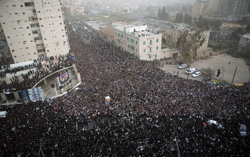 ISRAEL-RELIGION-JUDAISM-MILITARY-DEMO