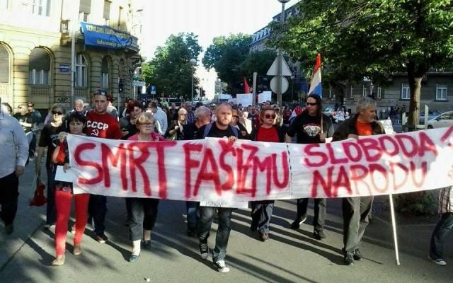 antifašistički marš antifašisti marš zagreb