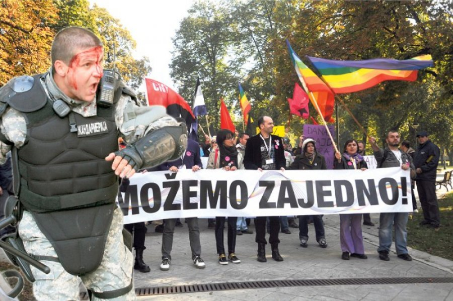 gay parada beograd srbija policija poplave