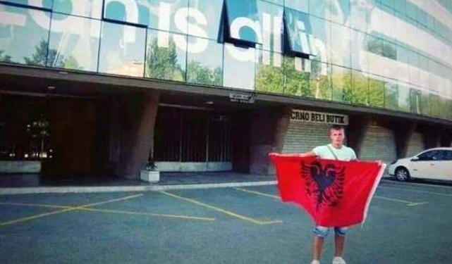 albanija srbija navijač partizan stadion