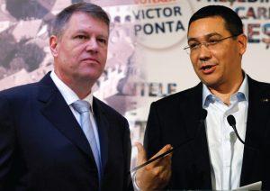Klaus Iohannis (lijevo) i Victor Ponta (desno)