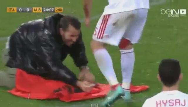albanski navijači albanija italija