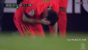 messi barcelona valencia u glavu