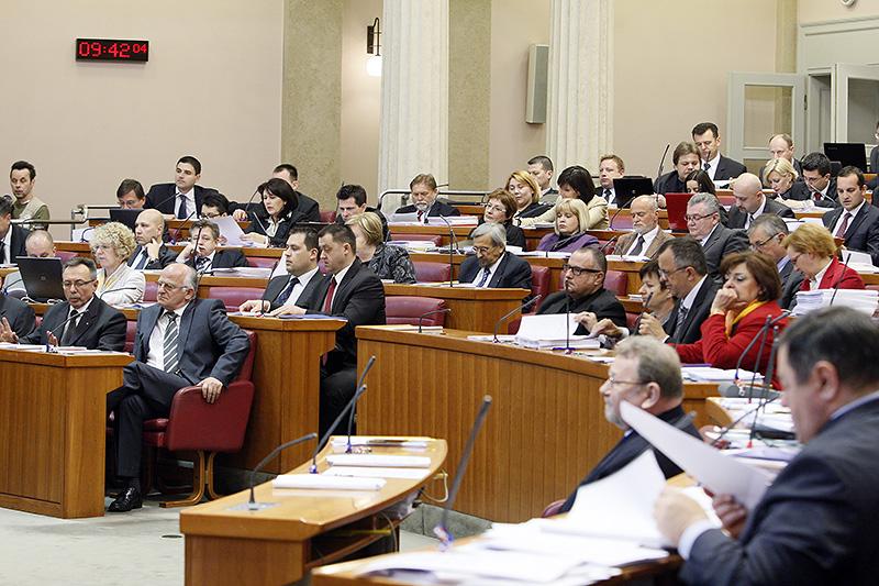 Zagreb, 18.04.2012 - Hrvatski sabor aktualnim prijepodnevom poceo je 4. sjednicu