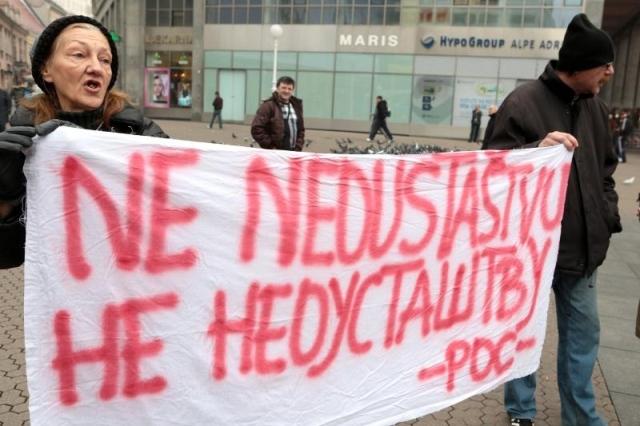 pokret occupy hrvatska Marijana Mirt branitelji prosvjed protiv branitelja savska 66 porez dužnik