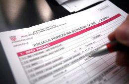 porezna prijava kako popuniti popunjavanje povrat poreza