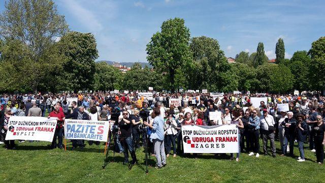 prosvjed udruga franak hnb vlada branitelji