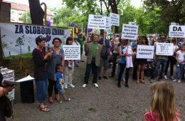prosvjed protiv obaveznog cijepljenja za slobodu izbora