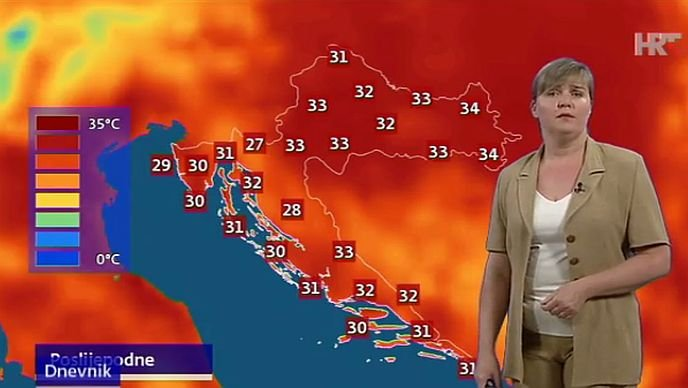 vrućine vrijeme danas