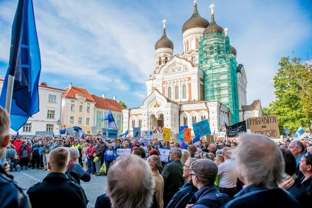 estonija tallinn prosvjed imigranti