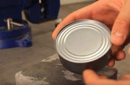 kako otvoriti konzervu bez otvarača