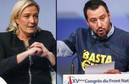 Marine Le Pen i Matteo Salvini