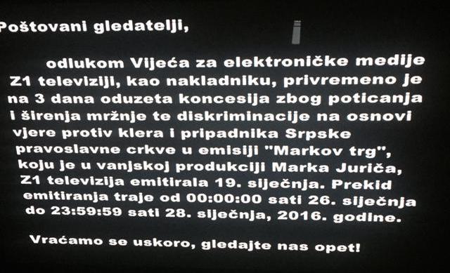 televizija z1 ugašena