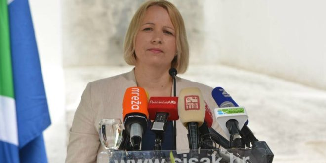 Kristina Ikić Baniček gradonačelnica siska