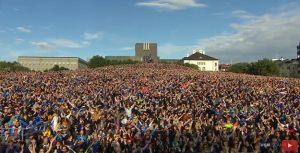 island huk nogometna reprezentacija euro 2016 doček