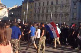 prosvjed trg bana jelačića branitelji zagreb