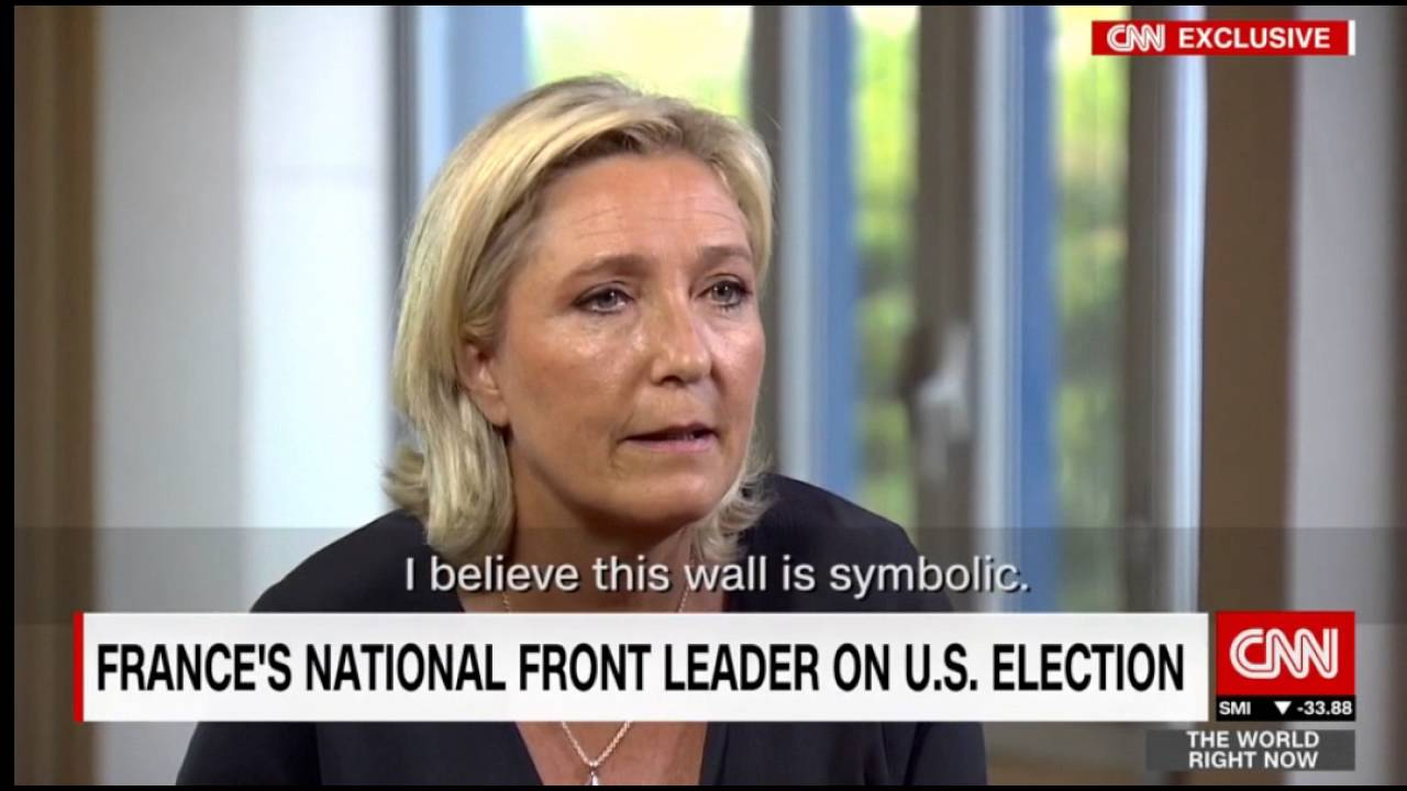 marine le pen cnn clinton