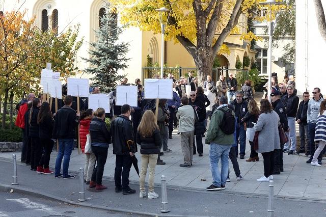 radnička fronta 40 dana za život prosvjed