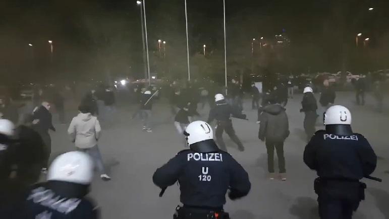 navijači neredi austrija beč roma