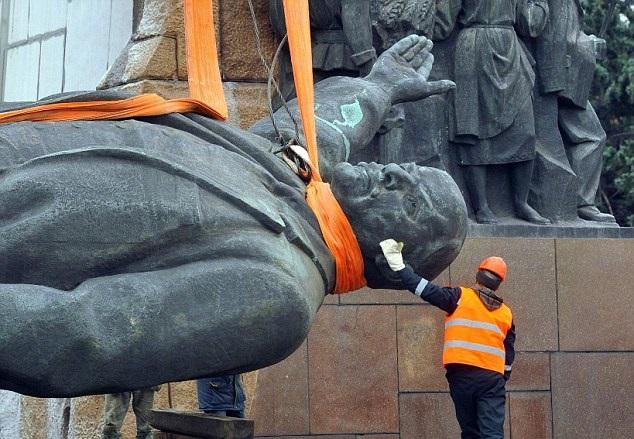 ukrajina, sssr, lenjin, spomenik, ulice