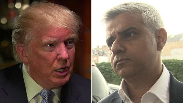 trump, london, sadiq khan